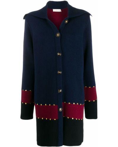 Длинное пальто без воротника на кнопках Tory Burch