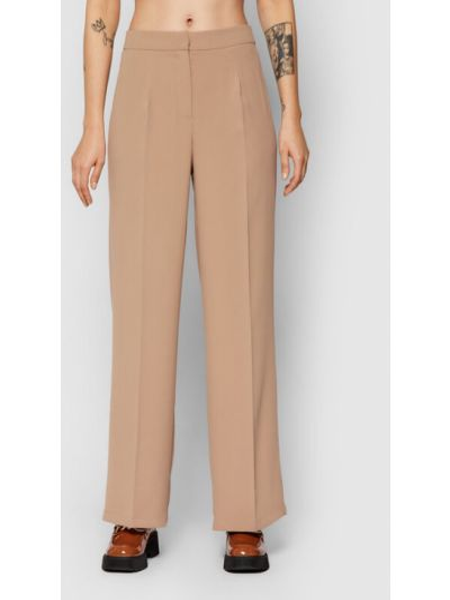 Spodnie materiałowe - beżowe Selected Femme