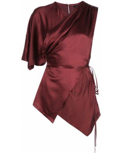 Блузка атласная - красная Yigal AzrouËl