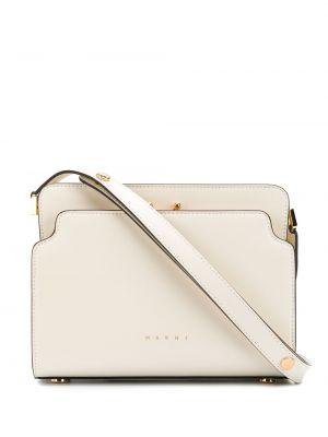 Золотистые кожаные белые сумка через плечо Marni