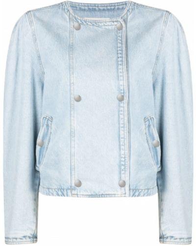 Хлопковая синяя джинсовая куртка двубортная Isabel Marant étoile