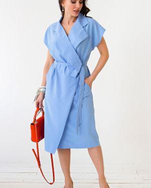 Платье с поясом с запахом платье-сарафан Lady Taiga