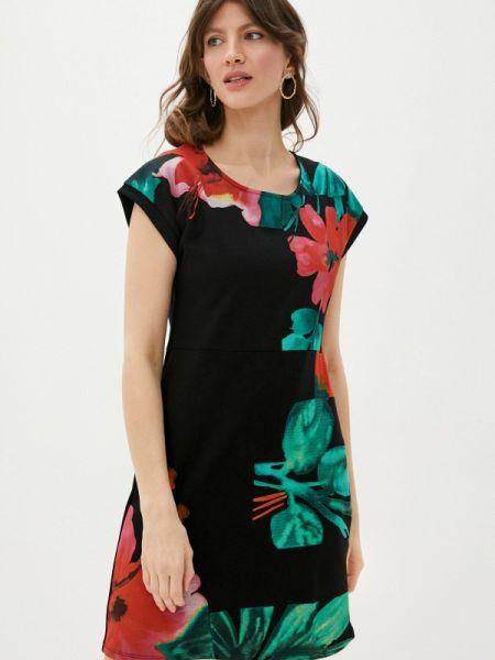 Платье прямое черное Desigual