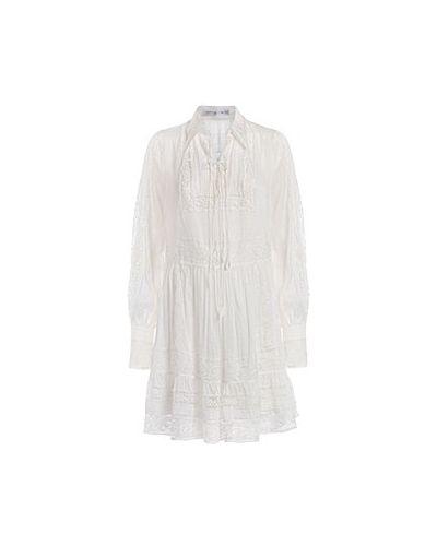 Хлопковое белое коктейльное платье Ermanno Scervino