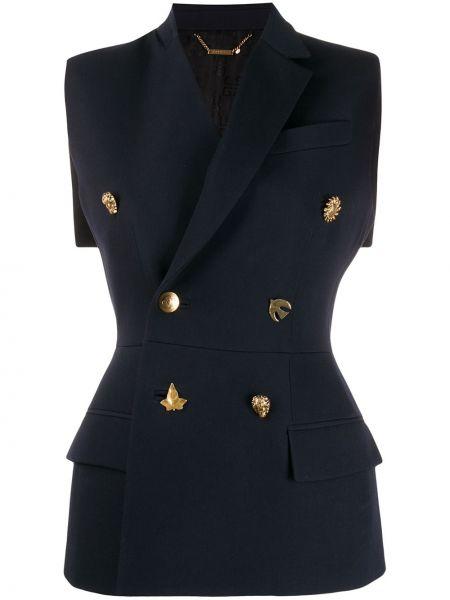 Kamizelka wełniana asymetryczna bez rękawów Givenchy