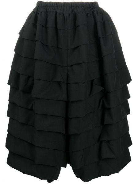 Черная юбка миди с поясом Comme Des Garçons