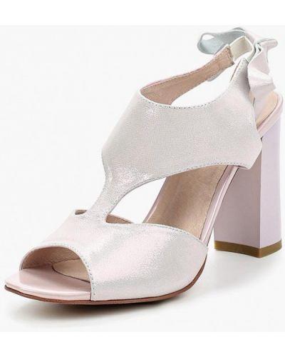 Розовые босоножки на каблуке Berkonty