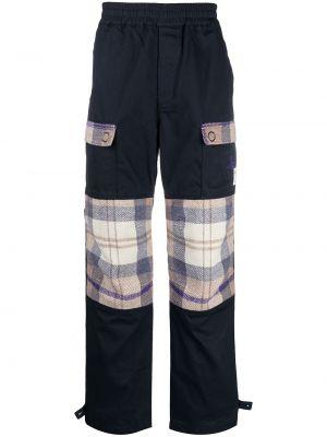 Spodni wełniany niebieski bojówki z kieszeniami Vivienne Westwood