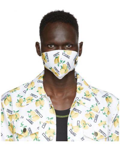 С ремешком белая ватная хлопковая маска для лица Phlemuns