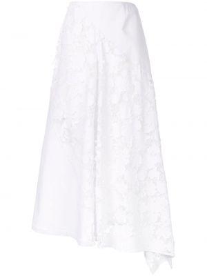 Асимметричная с завышенной талией юбка миди в рубчик на молнии Goen.j