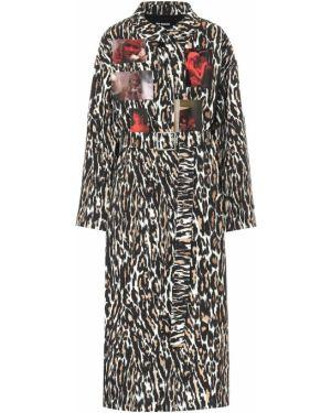 Пальто леопардовый с принтом Raf Simons