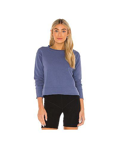 Флисовый синий свитер Frank & Eileen