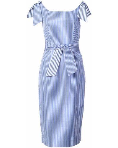 Платье макси в полоску приталенное со шлицей Milly