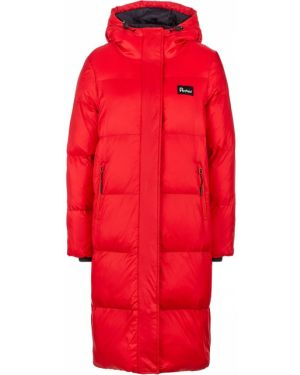 Куртка с капюшоном длинная красная Penfield