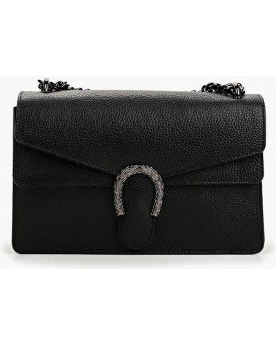 Кожаная сумка через плечо черная Roberta Rossi