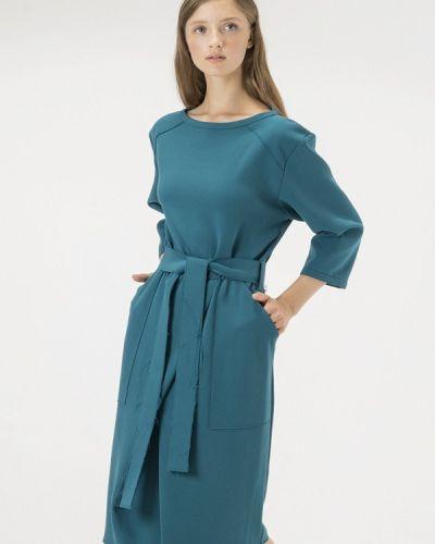 Платье бирюзовый осеннее Белка