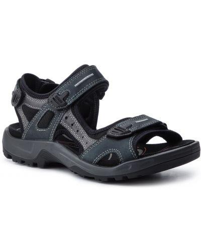 Skórzany szary skórzany sandały z wkładkami Ecco