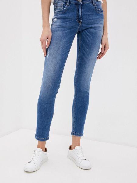 Синие джинсы-скинни с пайетками Bikkembergs