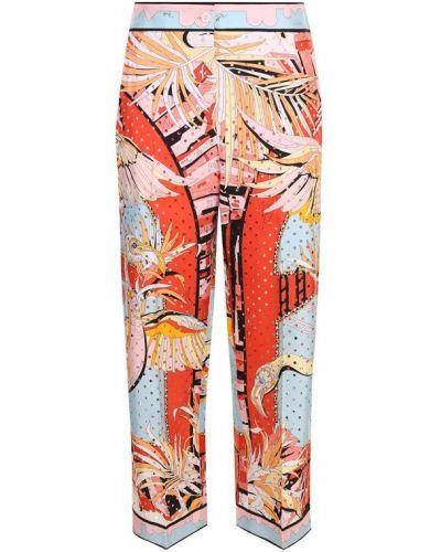 Укороченные брюки в горошек шелковые Emilio Pucci