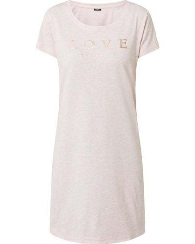 Różowa koszula nocna bawełniana krótki rękaw Lascana