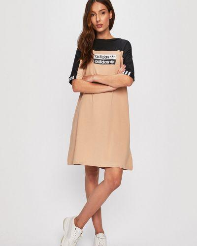 Платье прямое бежевое Adidas Originals