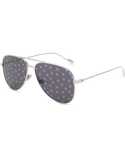Солнцезащитные очки авиаторы стеклянные Saint Laurent