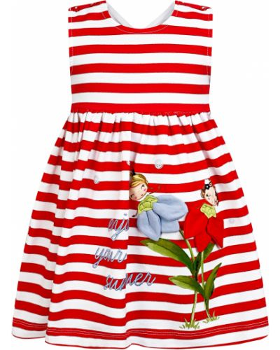Хлопковое красное платье Mayoral