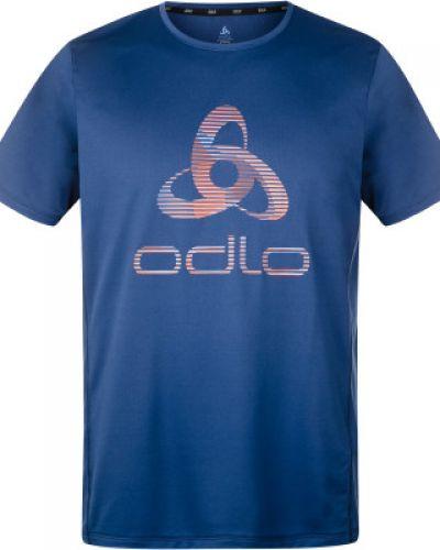 Прямая синяя спортивная футболка Odlo