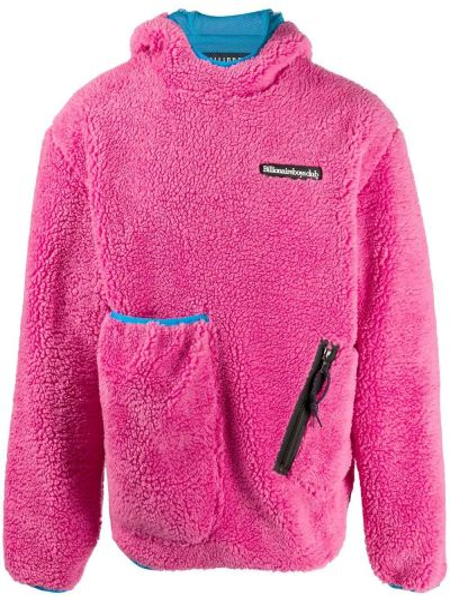 Różowy prosto klasyczny pulower z kapturem Billionaire Boys Club