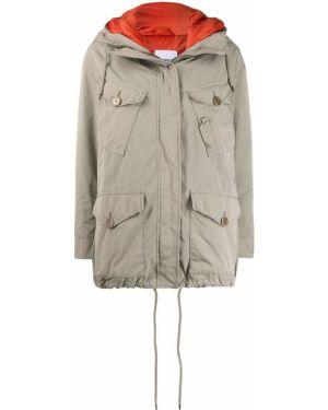 Длинное пальто айвори Aspesi