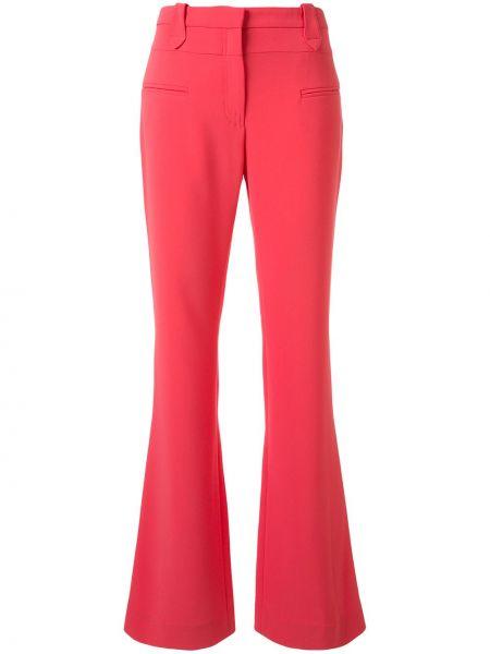 Расклешенные розовые брюки с карманами с высокой посадкой Altuzarra