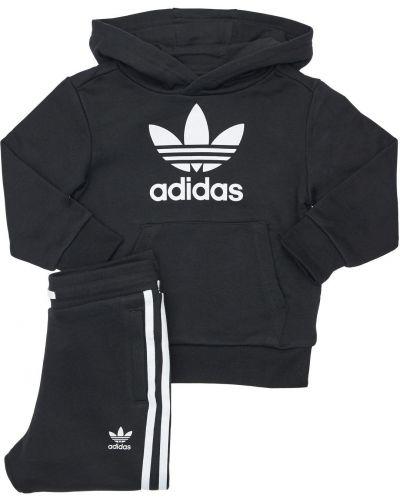 Bawełna bawełna spodnie na gumce z kieszeniami z paskami Adidas Originals