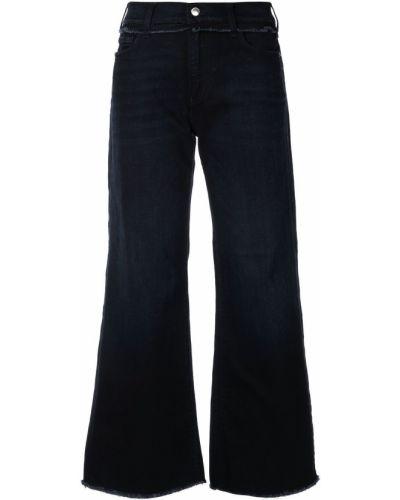 Широкие джинсы mom синие Emporio Armani