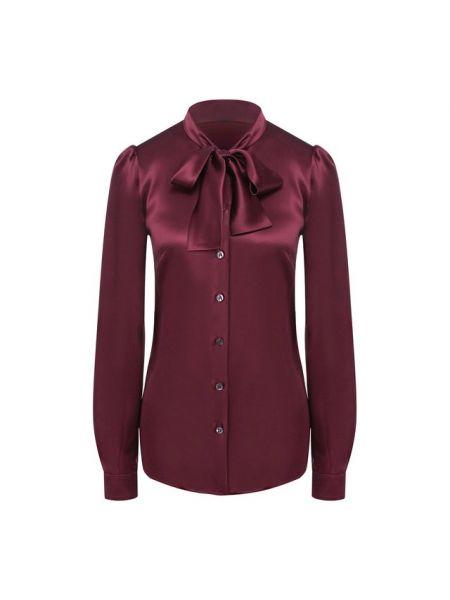 Красная блузка с бантом с воротником на торжество Dolce & Gabbana