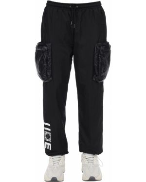 Czarne spodnie ciążowe z nylonu Iise