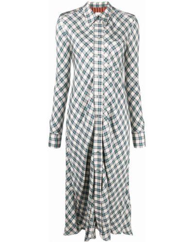 Платье макси с длинными рукавами - белое Paul Smith
