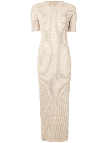 Платье мини в рубчик с разрезами по бокам Anna Quan