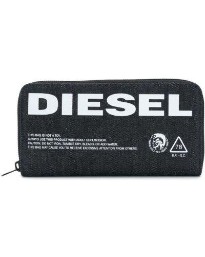 Кошелек с логотипом на молнии Diesel