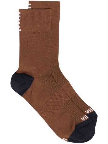 Спортивные коричневые нейлоновые носки Rapha