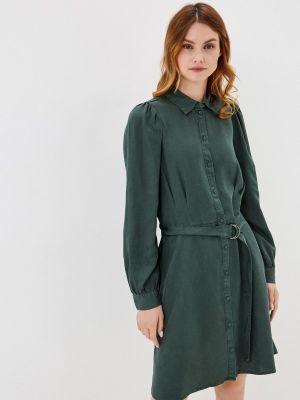Зеленое платье-рубашка B.young