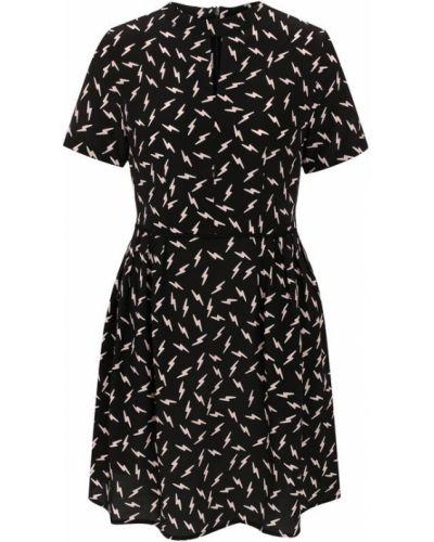 Платье шелковое черное Markus Lupfer
