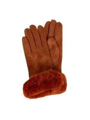 Brązowe rękawiczki z wiskozy Kurt Beines