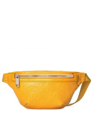 Pasek z klamrą - żółty Gucci