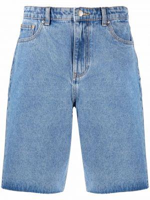 Джинсовые шорты до колена - синие 12 Storeez