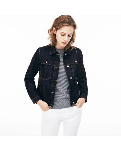Джинсовая куртка синий Lacoste