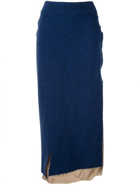 Spódnica maxi asymetryczny z wysokim stanem Sulvam