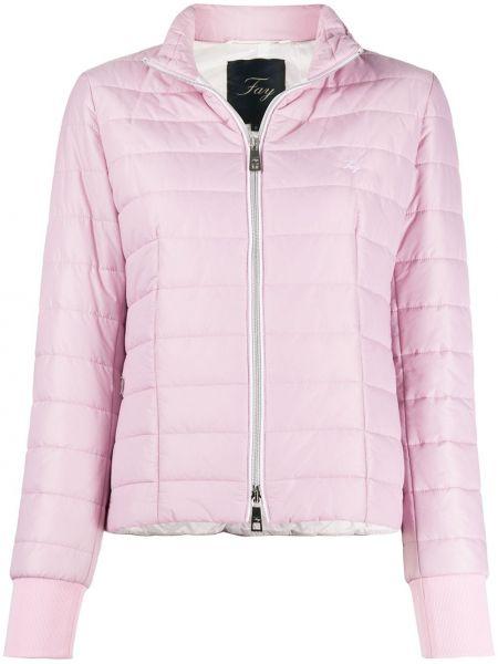 Длинная куртка розовая с вышивкой Fay