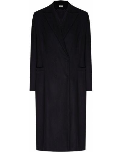 Шерстяное черное платье с карманами Izeta