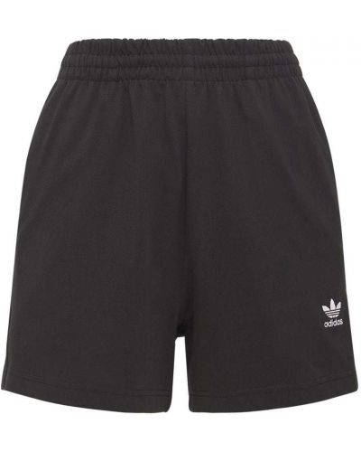Черные шорты на резинке Adidas Originals