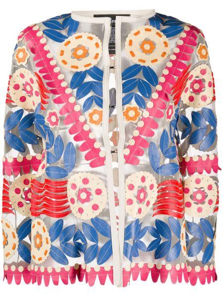 Открытая куртка круглая с вырезом с аппликациями Caban Romantic